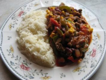 Mexikanische Gemüsepfanne mit Reis - Rezept
