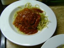 Spaghetti/ Tomatensoße - Rezept