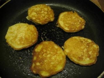 Kleine  Maispfannkuchen als Sättigungsbeilage bei amerikanischen Steaks - Rezept