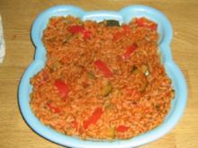 Tomatenreis mit Paprika und Zucchini - Rezept
