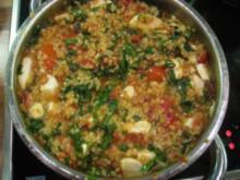 Bulgur mit Bärlauch und Mozzarella - Rezept