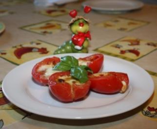 Gegrillte Tomate mit Mozzarella - Rezept