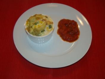 Pasta - Auflauf mit Gemüse und Lachs - Rezept