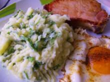 Bärlauch-Kartoffelpüree mit zwei Gesichtern - Rezept