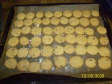 Schoko Mandel cookies - Rezept