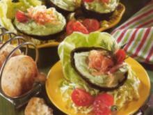 antipasti avocado gefùllt mit lachs - Rezept