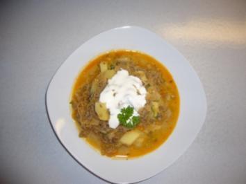 """Kikis Hack-Sauerkraut-Kartoffel-Topf á la Kiki """"light"""" - Rezept"""