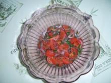 Tomatensalat mit roter Zwiebel - Rezept