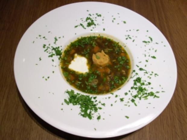 Beluga-Linsen-Suppe - Rezept