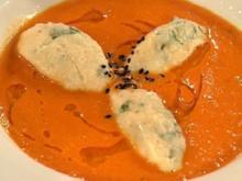 Tomaten-Ingwer-Suppe mit Quarknocken - Rezept