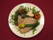 Tunfisch im Rucolabett mit geröstetem Seetang - Rezept