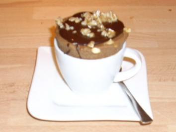 Geeistes Schokoladen-Mocca-Soufflé - Rezept