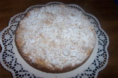 Versunkener Kirschkuchen mit Streuseldecke - Rezept
