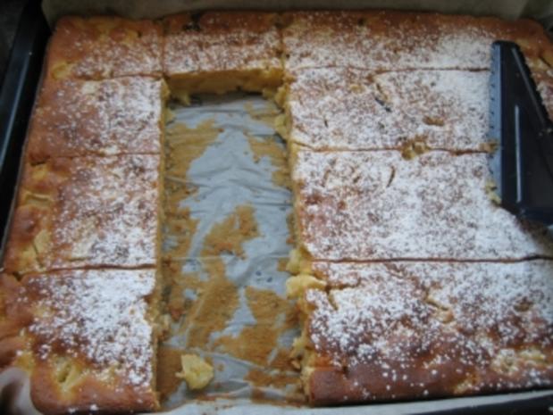 Apfelkuchen mit Schmand vom Blech - Rezept - Bild Nr. 7