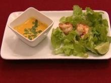 Orange Soup und Eichblattsalat mit einer fetten Gamba (Antje Lewald) - Rezept