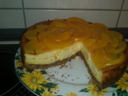 aromatischer Pfirsich-Käsekuchen - Rezept