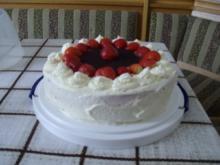 Erdbeer Sahne Torte - Rezept