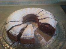 Schoko-Nuss-Kuchen / Tarte - Rezept
