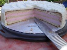 Käsesahnetorte in rosa - Rezept