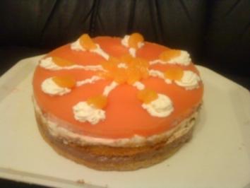 Pfirsich Mandarinen Schokocreme Torte