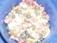 Käse - Schinkenwurst - Salat - Rezept