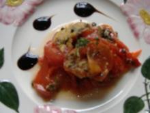 Salat aus gebackenen Tomaten - Rezept
