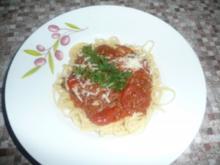 Tomatensauce mit Schinken und Hack - Rezept