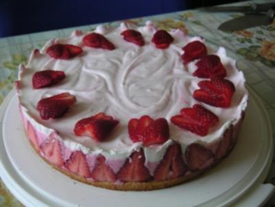 erdbeer- sekt - torte - Rezept