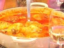 Huhn mit Tomate geschmort - Rezept