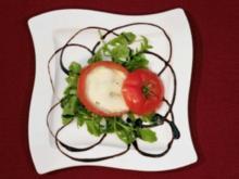 Tomate gefüllt mit Mozzarella in Wendler Spezial Dipp und Himbeervinaigrette (Michael Wendler) - Rezept