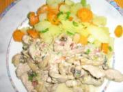 Gorgonzola Geschnetzeltes mit Champignons - Rezept