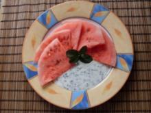 Grappa-Melone an Minz-Joghurt - Rezept