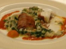 Parma-Seeteufel auf Mangoldrisotto und Tomatenkonfit - Rezept