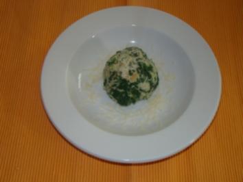 Spinatknödel - Rezept