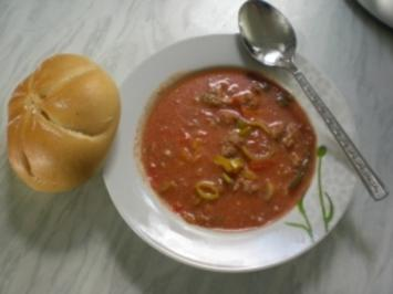 Rezept: Pizza- Suppe