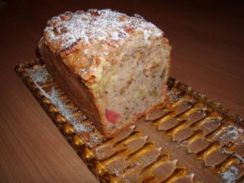 Rhabarber-Walnuss-Kuchen - Rezept