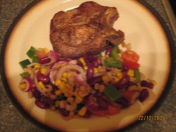 Farbenfroher Salatteller mit Shrimps - Rezept