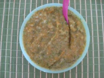 Babynahrung: Karotte-Zucchini-Kartoffel-Fleisch-Brei ab dem 7. Monat - Rezept