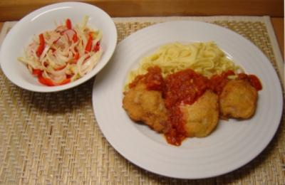 Piccata Milanese mit Tomatensauce - Rezept