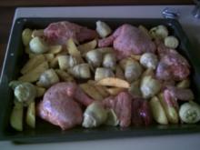 Hähnchen mit Artischocken und Kartoffeln - Rezept