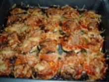 Wurst-Zucchini-Gratin - Rezept