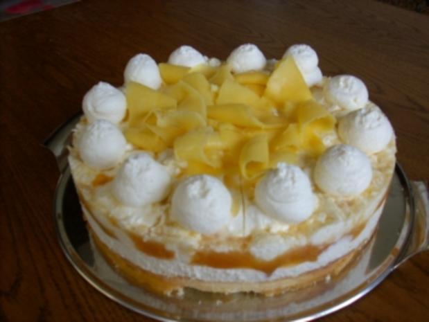 Marmorierte Mango-Joghurt-Torte - Rezept - Bild Nr. 2