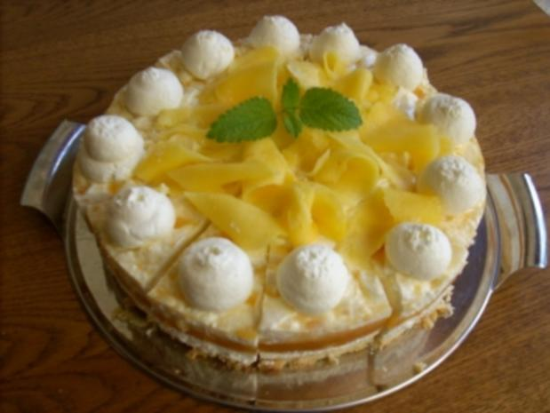 Marmorierte Mango-Joghurt-Torte - Rezept - Bild Nr. 3