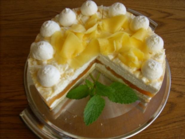 Marmorierte Mango-Joghurt-Torte - Rezept - Bild Nr. 4
