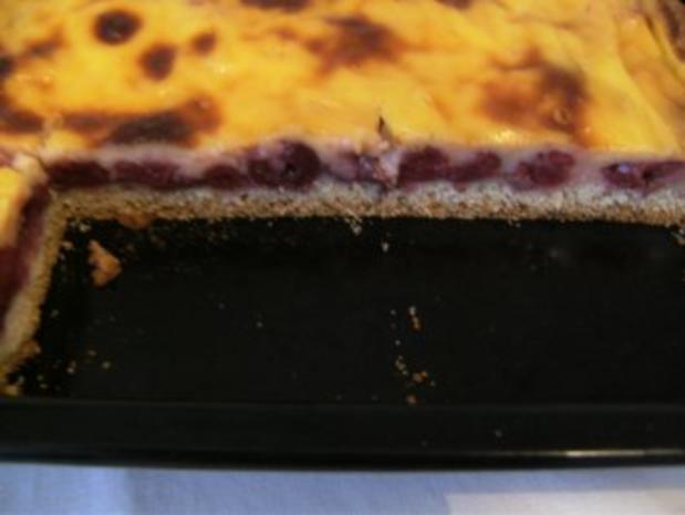 BLECHKUCHEN - Kirschkuchen mit Pudding - Rezept - Bild Nr. 2