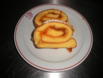 Biskuitroulade - Rezept
