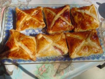 Blätterteigtaschen mit Marmelade gefüllt - Rezept