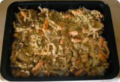 Rezept: Gyros mit Reis-Gemüsepfanne