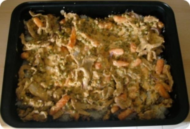 Gyros mit Reis-Gemüsepfanne - Rezept