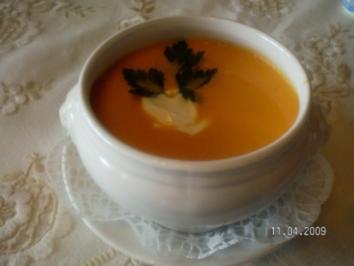 Rezept: orangen- Möhren-Suppe